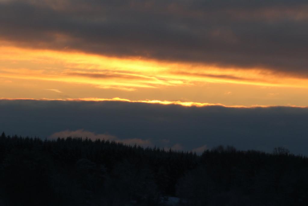 Soluppgång i december